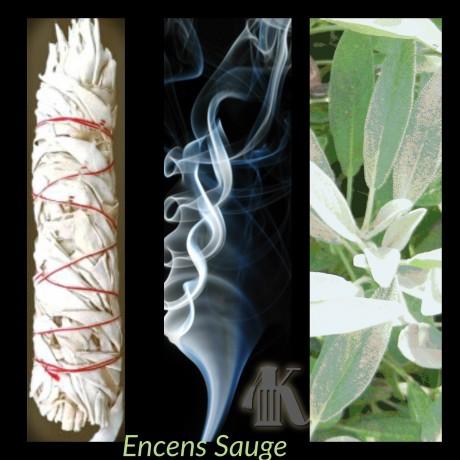 Rouleau de feuilles de sauge blanche naturelle